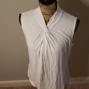 Ann Taylor white sleeveless blouse